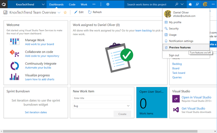 VSTS Feature