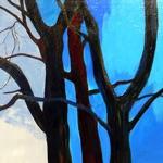 "Maris Palgi, Estonia. ""Puu"". Canvas, acrylic, 40x70cm"