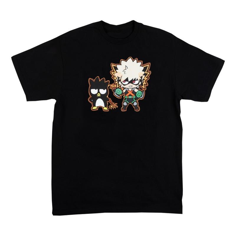 Hello Kitty & My Hero Academia Anime Women's Back Short Sleeve Shirt