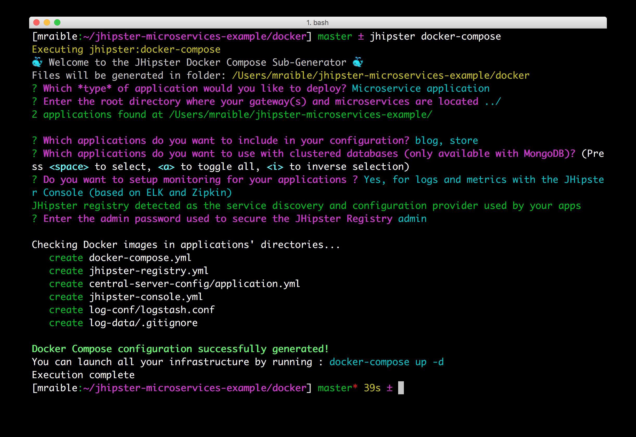 Generating Docker