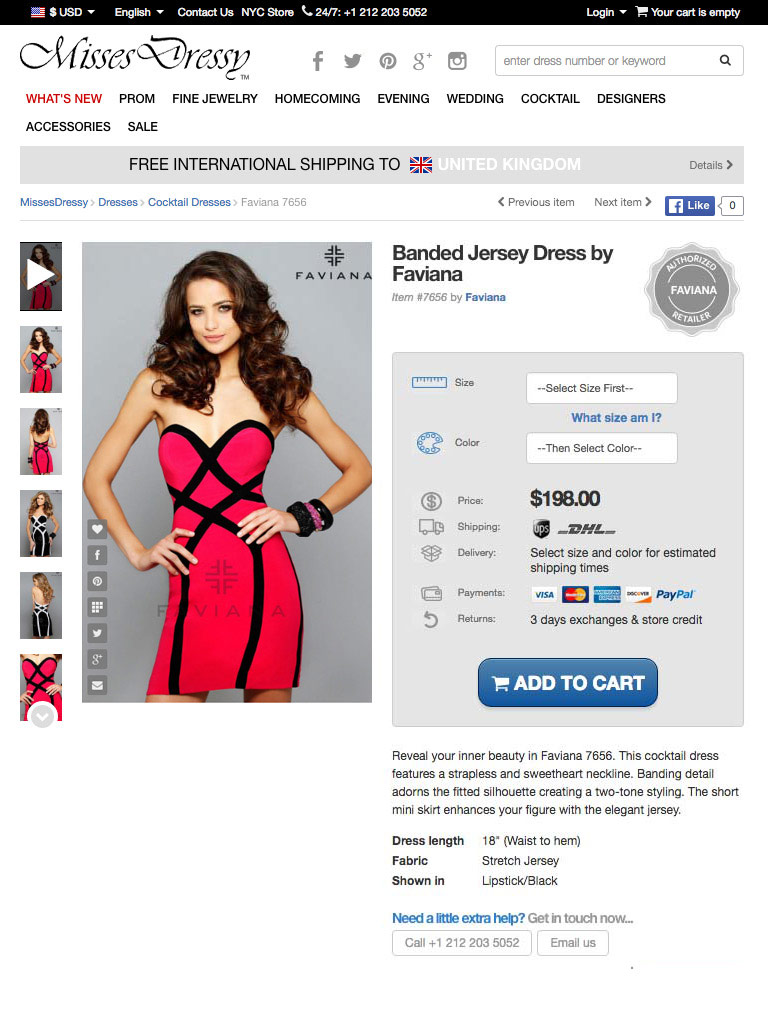 MissesDressy product page