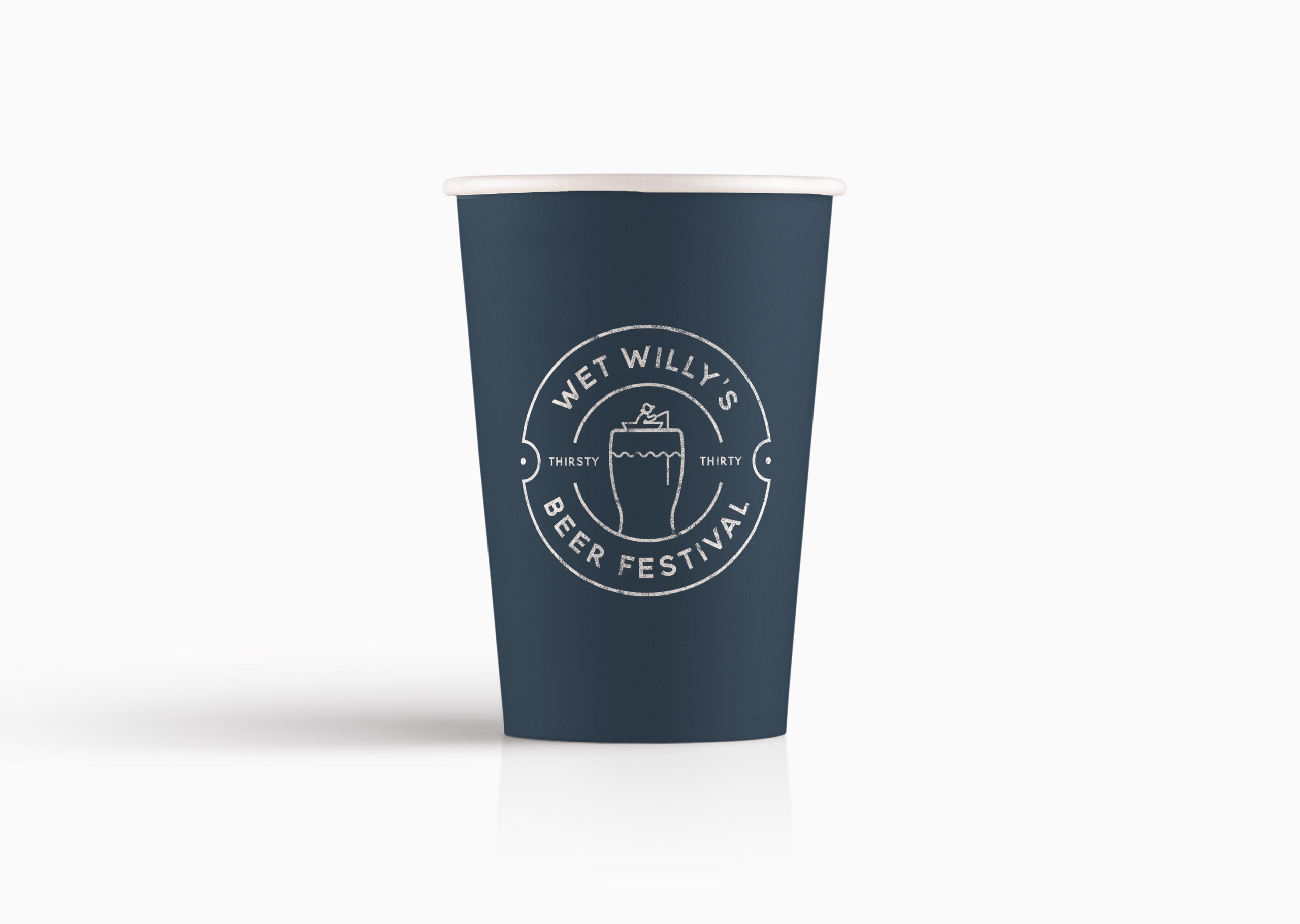 Paper cup and logo design for Wet Willy's Beer Festival