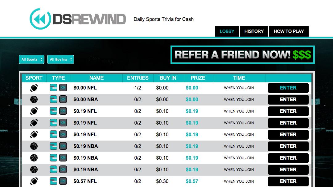 Screenshot of DS Rewind