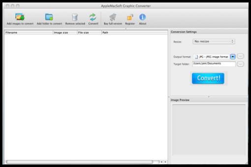Graphic Converter interface