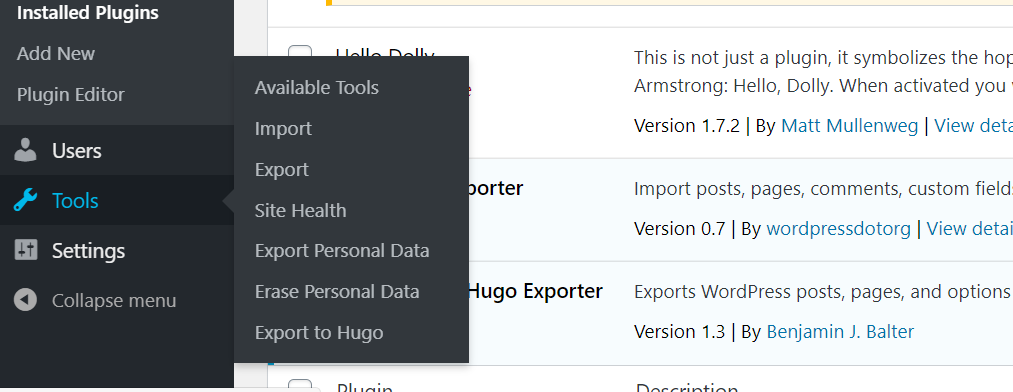 export-to-hugo