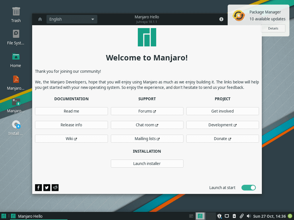 Welcome to Manjaro!