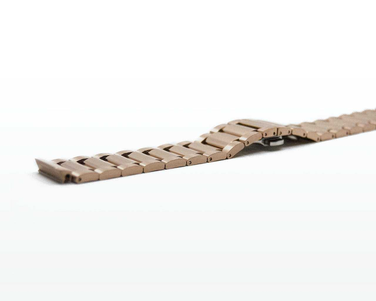 Rose gold strap for Representor - open