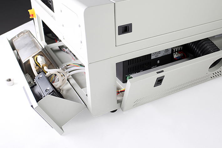 right panel and rear panel on the Aeon Mira CO2 Desktop Laser Cutting Machine