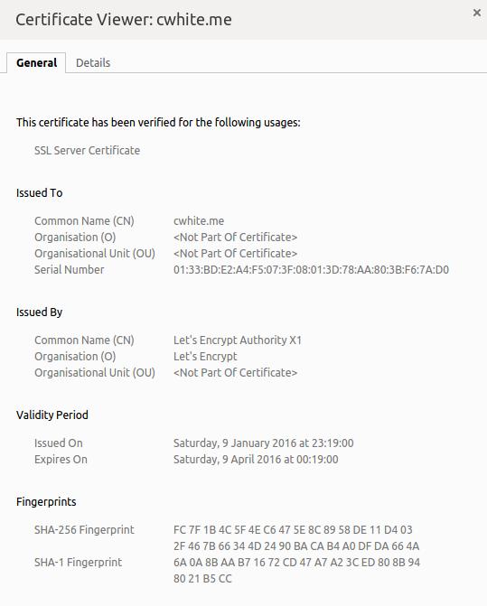 Let's Encrypt Certificate
