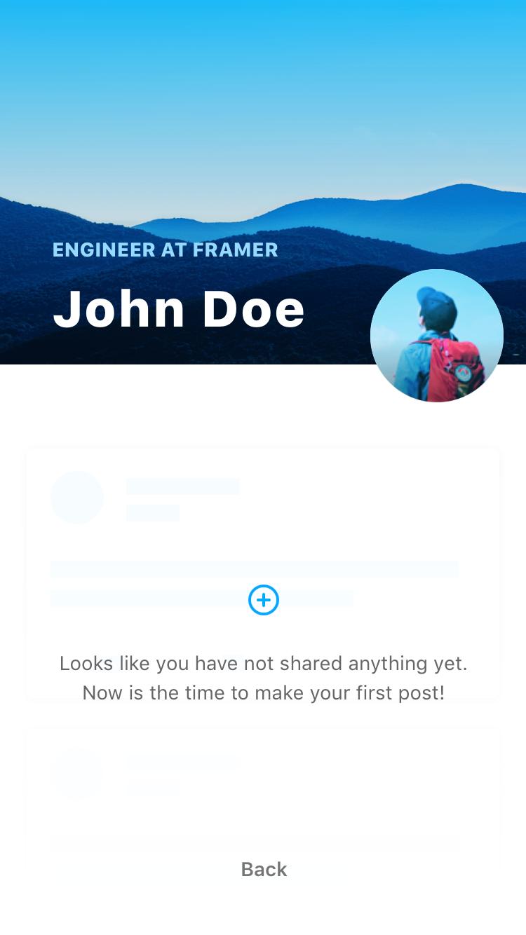 Fiber UI Kit: view profile screen