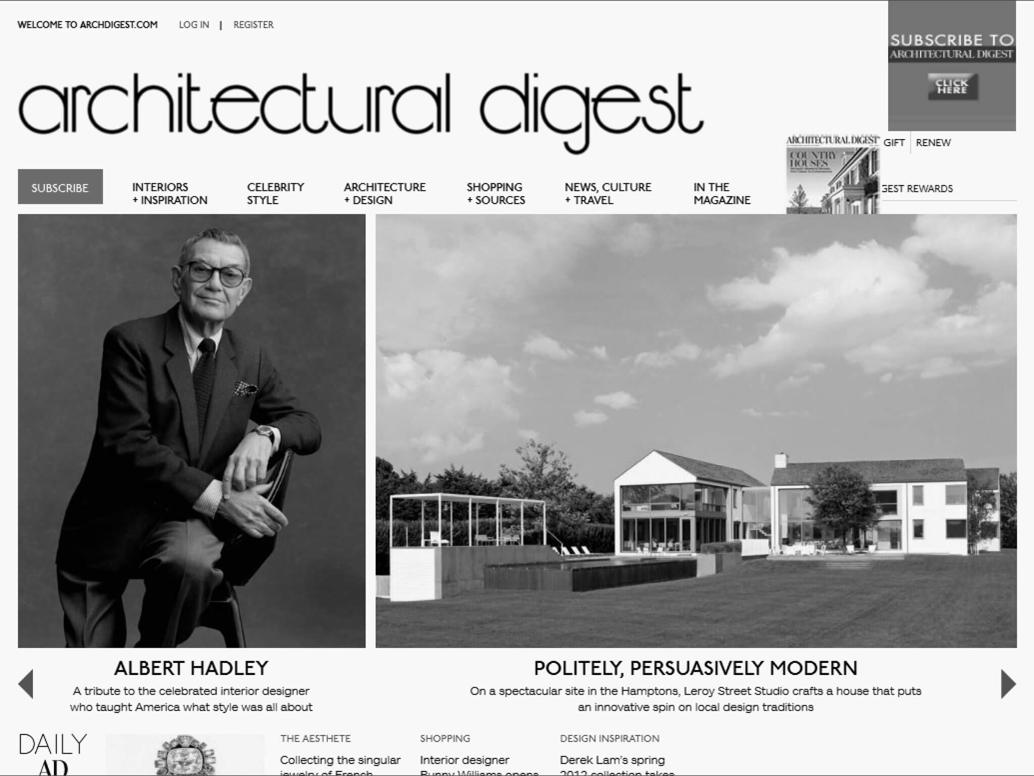 K Architecture Digest composition