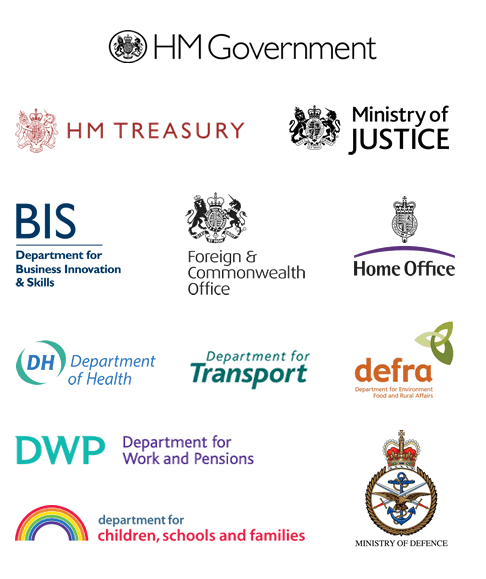 A selection of logos used by the British government today
