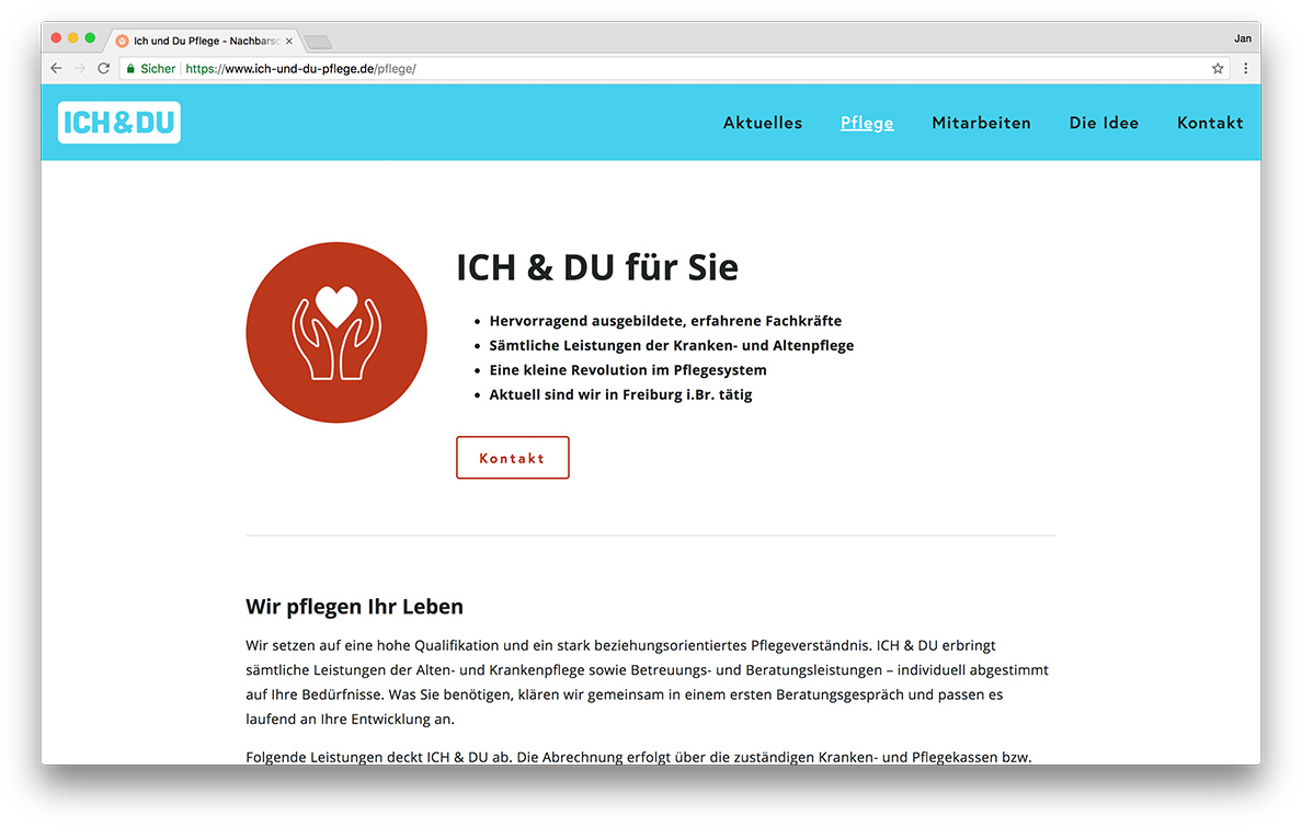 KreativBomber Onlineagentur Freiburg - ICH & DU Pflege Freiburg Pflege