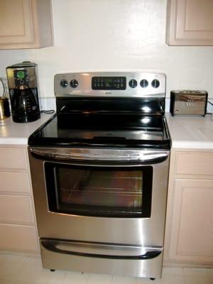 Shiny new stove