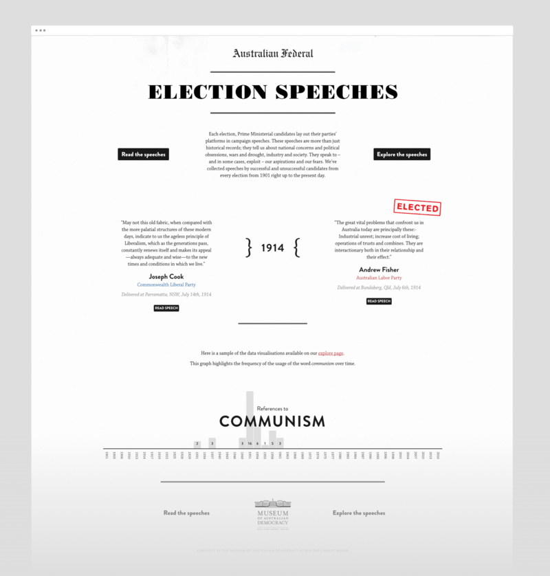 Election speeches home page