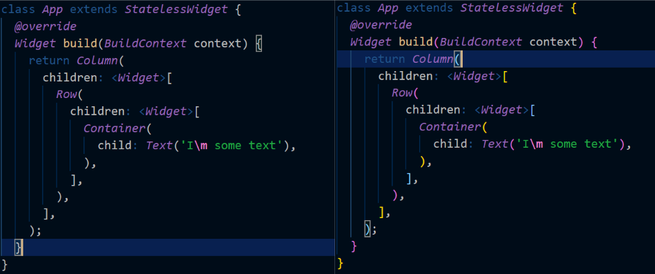 Colored Brackets Example