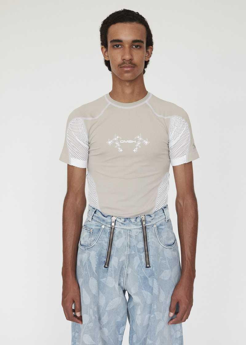 GmbH AW19 Eevan T-Shirt Beige White FRONT