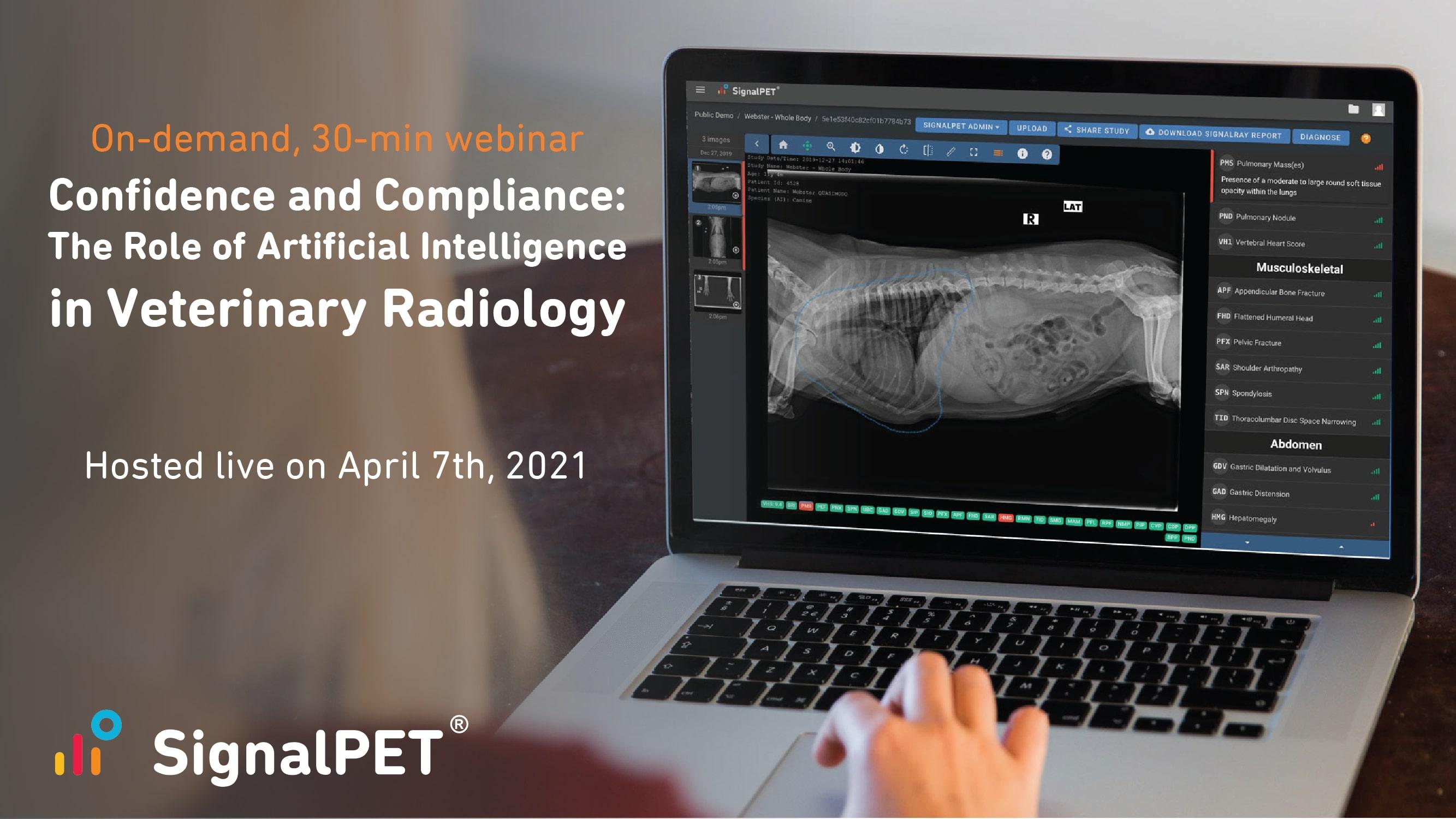 Artificial Intelligence in Veterinary Radiology Webinar