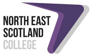 The logo for North East Scotland College in Aberdeen where I studied for a HND in Digital Design which focused on website design and development