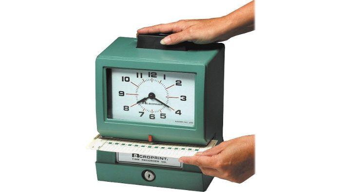 125NR4 Heavy-Duty Manual Time Clock