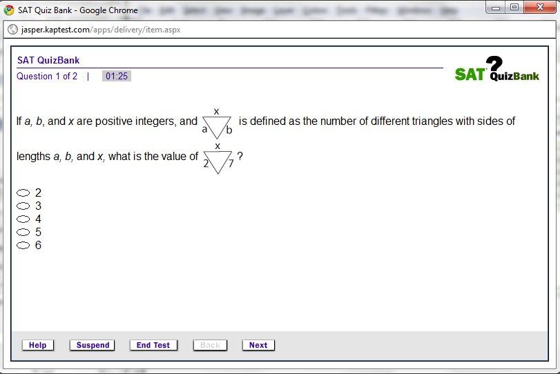 Kaplan SAT math questions