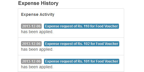 Expense History