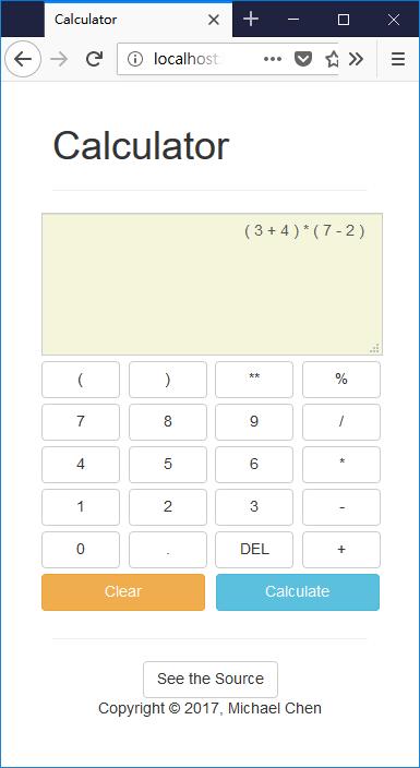 以 TypeScript 實作的電子計算機