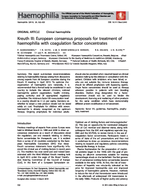 Thumbnail image of an article from Haemophilia