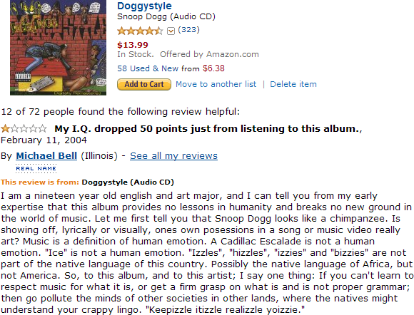 Snoop Dog Doggystyle album review