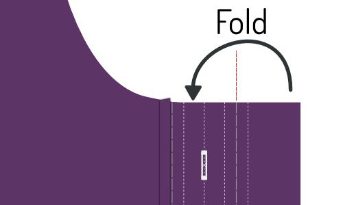 Fold the buttonhole placket