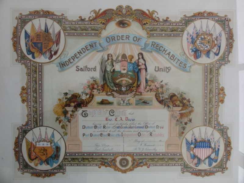Framed Certificate - Bro Drew