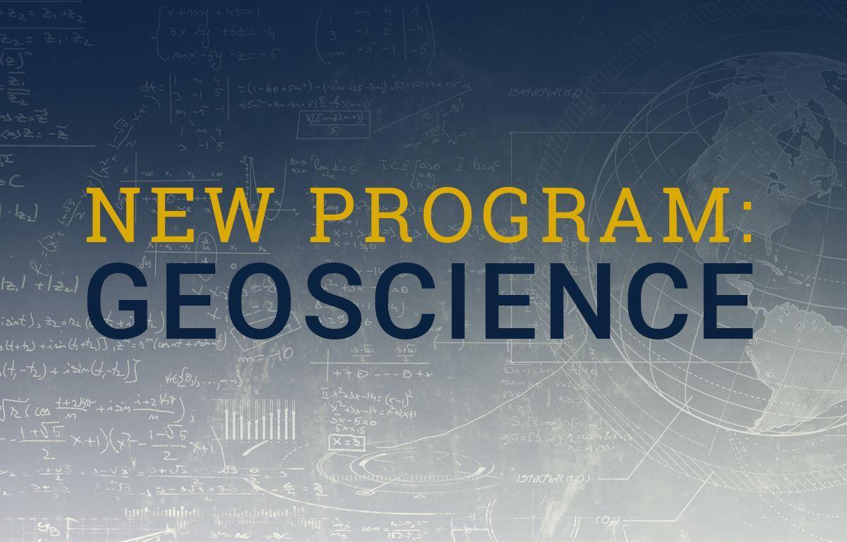 New Program: Geoscience