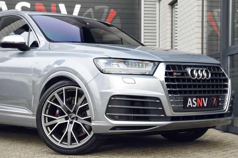 Audi SQ7 4.0 TDI Quattro Pro Line + , 435 PK, Valcona/Leder, Pano/Dak, 2017, Bose, 22'', Elekt. Trekhaak, 79DKM!! afbeelding 18