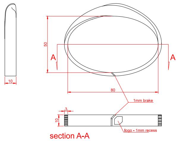 Gorrion Rapid Prototyping - bracelet 3d model