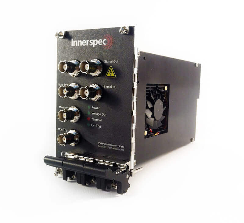 Innerspec PXI Pulser-Receiver Card Front