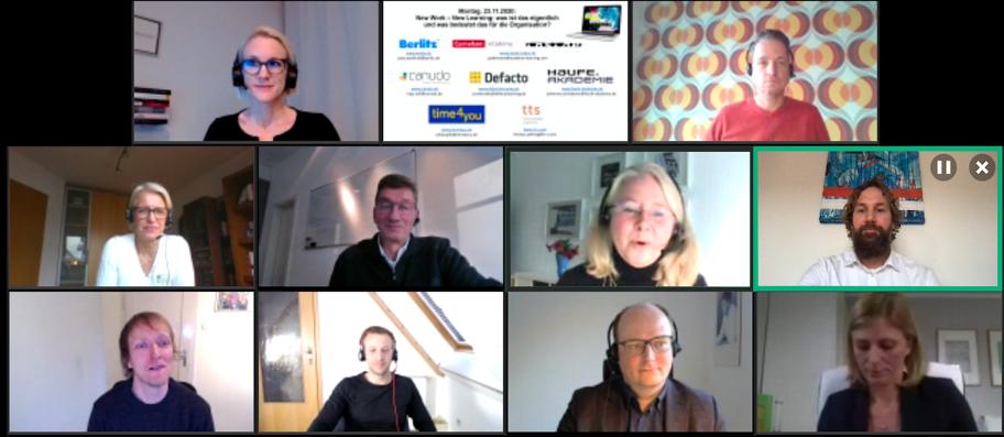 Virtueller Expertentalk zum Thema New Work - New Learning