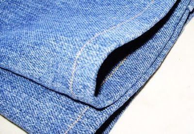 Zoom sur des ourlets de jean