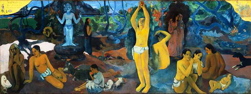 'Where Do We Come From? What Are We? Where Are We Going?' by Gauguin in 1897, Boston Museum of Fine Arts, Boston, MA