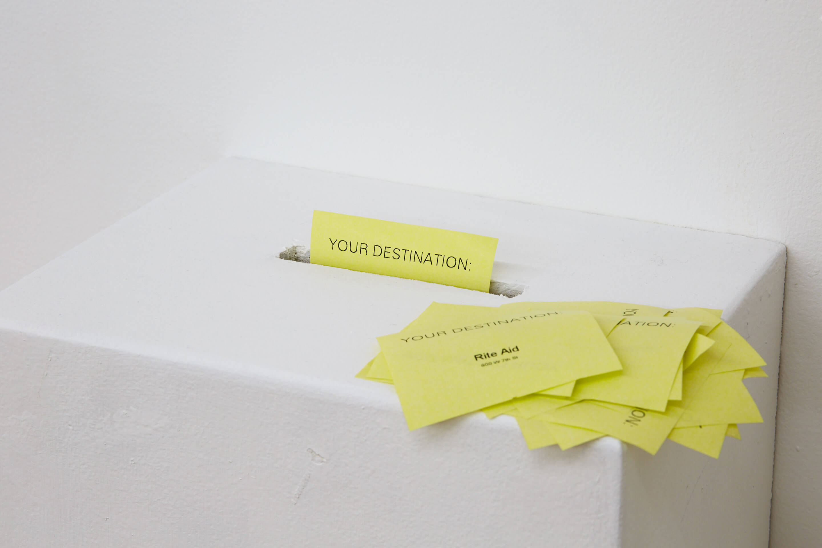 your destination installation photo