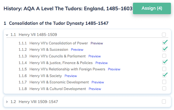 Homework A Level AQA History Tudors