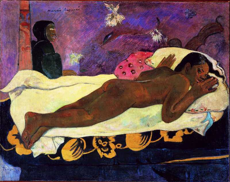 'Spirit of the Dead Watching' by Gauguin in 1892, Albright–Knox Art Gallery, Buffalo, NY