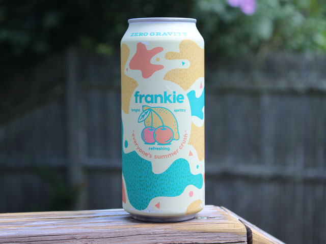 Frankie, a fruit beer brewed by Zero Gravity Brewing