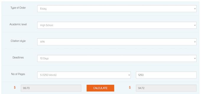 essaywritersworld.com pricing system