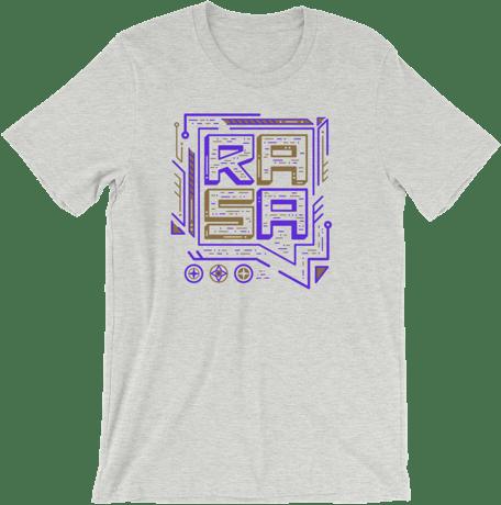 A T-shirt with the Rasa logo