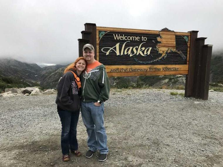 Joy and I in Alaska in 2017