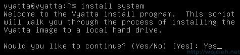 Vyatta - Install System