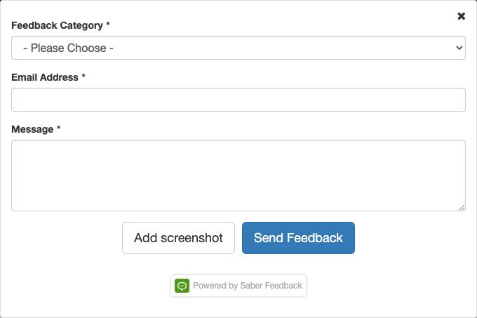 Saber Feedback's version 2 feedback form