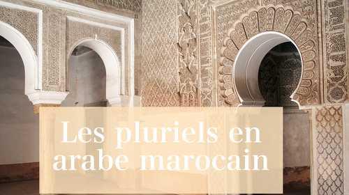 Les pluriels en arabe marocain