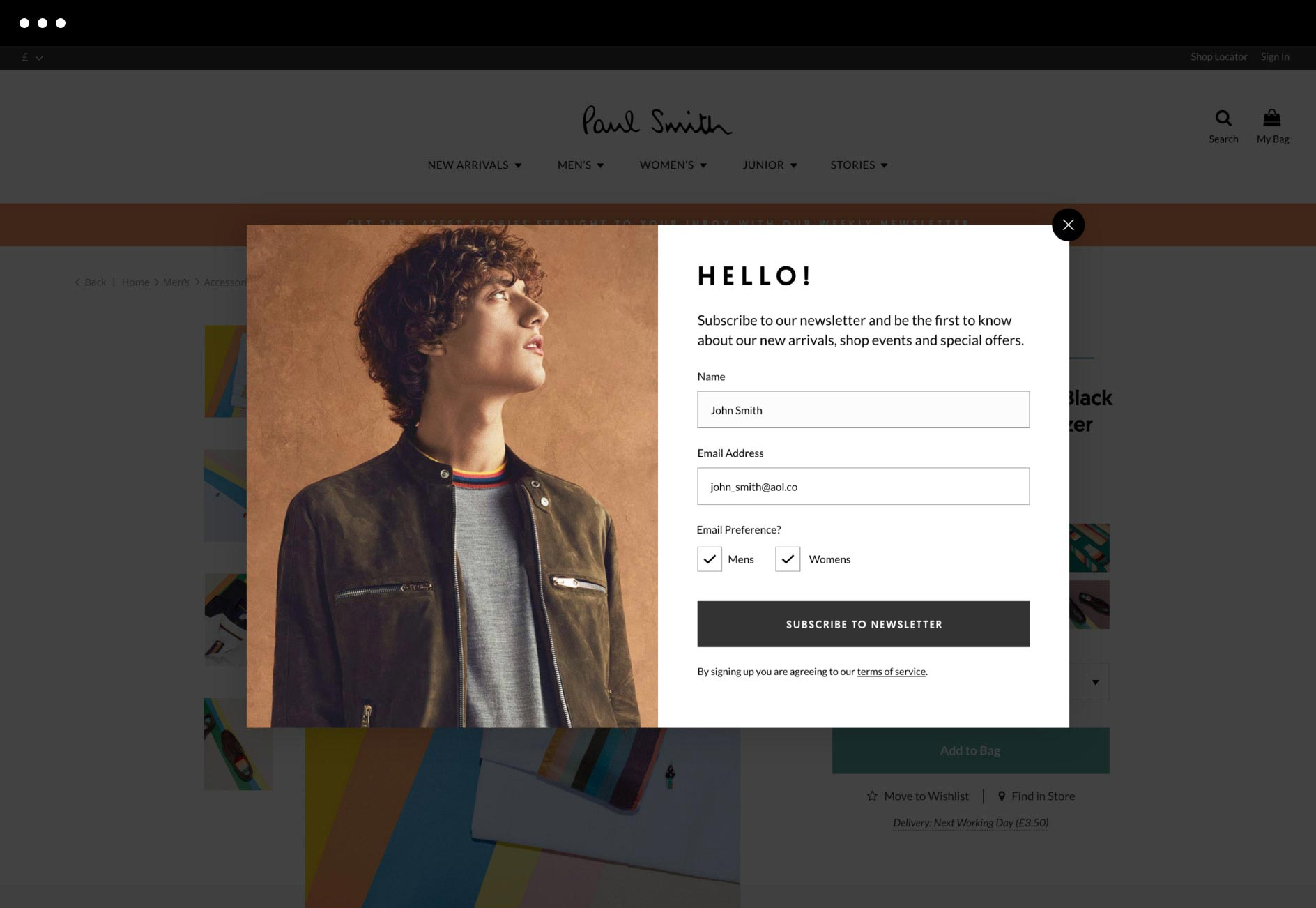 Paul Smith Newsletters Design