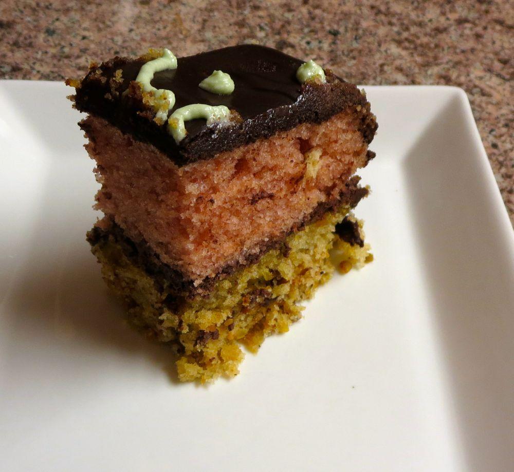 vegan pistachio rose cake